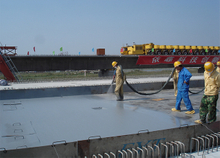 Spray polyurea elastomer (SPUA) waterproofing coating
